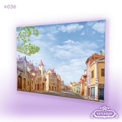 דפי רקע A4 - עיירה אירופאית