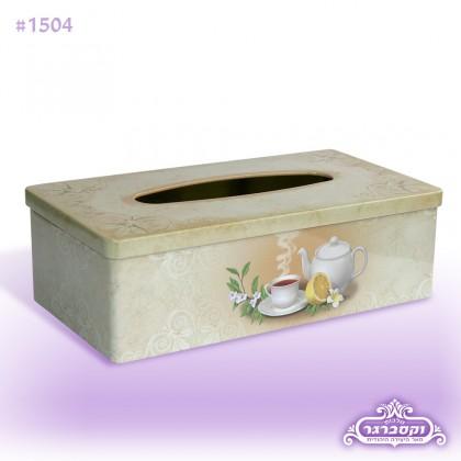קופסא מתכת לטישיו - כוס תה
