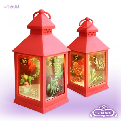 מנורה תלת מימד - שבעת המינים