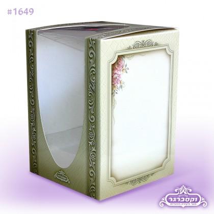 מארז מתנה - עם חלונית שקופה - דגם פרחים