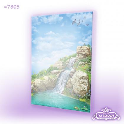דפי רקע A4 - מפלי מים