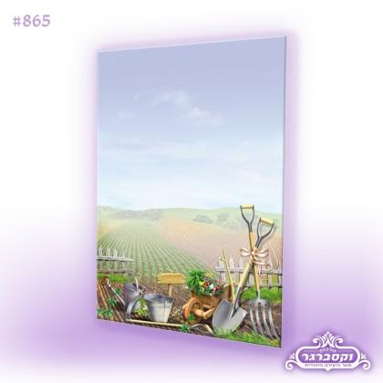 דפי רקע A4 - חרישה בשדה/ שמיטה